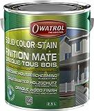 Owatrol Solid Color Versiegelung gegen Finish Deco Mate blickdicht alle Holz 2,5Liter Schwedenrot