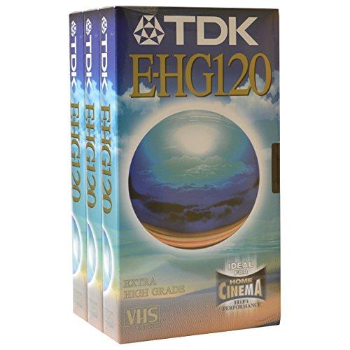 Extra hohe Qualität TDK blanko VHS Video Tape Kassette für hohe Performance Archivierung und spezielle Aufnahme Verwendung e-hg120 3 x 2 Hour