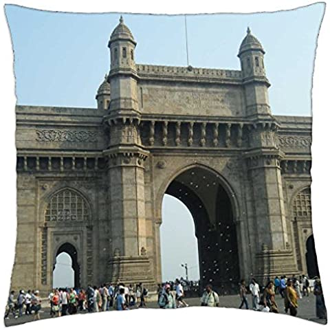 Gateway of India - Throw Pillow Cover Case (18