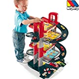 Parkgarage, 5 Ebenen, 71cm, stabiler Kunststoff, man. Aufzug: Auto Spielzeug Garage Spielstrasse Spielzeugauto 5 Etagen Parkhaus