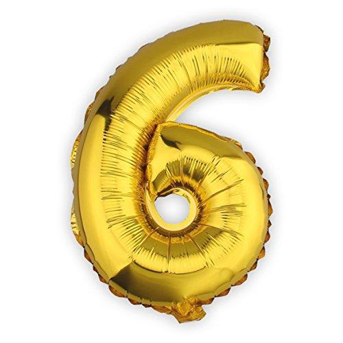 Globo gigante de helio con adhesivos número 6