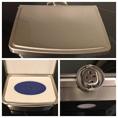 Feuchttücherbox aus hochwertigem Edelstahl-freistehend oder zur Wandmontage