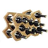 Rong jiu Weinregal Holz Kreative 10 Flasche Freistehende Kleine Weinhalter Regal Organizer für Bar Küchentisch Dekoration