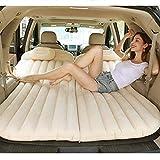 CRZJ Auto-Reise-Luftmatratze, Auto-aufblasbares Bett, Protable kampierende Luftmatratze mit 2 Luft-Kissen Universal-SUV
