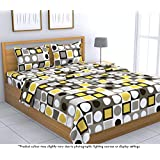 Loreto 144 TC 100% Cotton Double Bedsheet with 2 Pillow Covers, Multi Colour