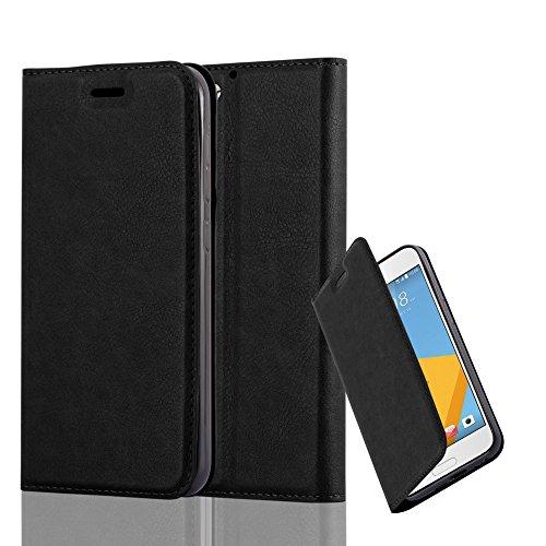 Cadorabo Hülle für HTC ONE A9S - Hülle in Nacht SCHWARZ - Handyhülle mit Magnetverschluss, Standfunktion & Kartenfach - Case Cover Schutzhülle Etui Tasche Book Klapp Style