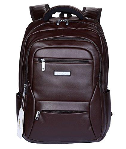 POLO VIDENG Lederrucksack Leichte Reise-Rucksack School Bookbag zum 17 Zoll Laptop (Braun-bvl) (Polo Erwachsene Schwarz)