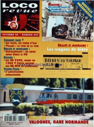 LOCO REVUE [No 629] du 01/10/1999 - COMMENT FAIRE ? - LES TALUS, LES COURS D'EAU - VILLARS - LA POSE DE LA VOIE ÔÇô REALITE ET MODELISME - CHATEAUBRIANT - UN DEPOT ENTRE OUEST ET PO ÔÇô DOSSIER - LES BB 9200, REINES DU 1500 V (PETITE HISTOIRE DES BB MTE EN MODELISME) ÔÇô TECHNO-TRAIN - L'AMPLIFICATEUR OPERATIONNEL ÔÇô MAGAZINE - UNE NOUVELLE VAPEUR H0 EN DECEMBRE ? - LA R RIVAROSSI SORT DU TUNNEL ! ÔÇô REALITE ET MODELISME - LES WAGONS DE BIERE ÔÇô RESEAU H0 - VALOGNES, GARE N