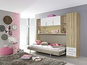 querklappbett wandkombination klappbett querklappbett schrankbett bett schrank k che. Black Bedroom Furniture Sets. Home Design Ideas