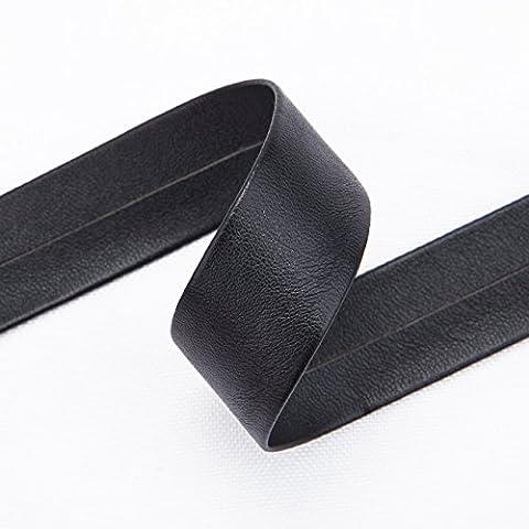 Neotrims Ruban PU Imitation Cuir 10mm et 20mm Garniture Coach Landau Sangle Bande. Longueurs: 3,8 m, 7,5m & 19m (1 Bobine). 5 choix de couleurs: Rouge, Noir, Or, Marron & Blanc-Cassé