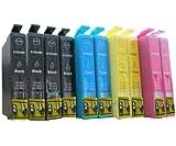 10 XL Druckerpatronen für Epson Stylus s22 sx125 sx130 sx235 sx235W sx420 sx420W sx425 sx425W sx435 sx435W sx440 sx440W sx445 sx445W / Epson Stylus Office BX305 F FW (kompatibel 1281 1282 1283 1284 1285) Sie bekommen 4 x Schwarz 2 x Blau 2 x Rot 2 x Gelb