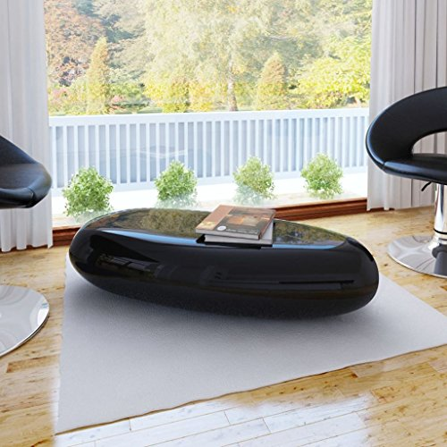 Lingjiushopping Beistelltisch in Fiberglas schwarz Material: Fiberglas Abmessungen: 100x 50x 28cm