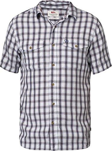 Fjällräven Herren Abisko Cool Shirt Ss Hemd Cork_blue / checked