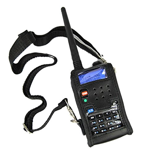 Kongnijiwa Radio Walkie Talkie Leder weiche Fall-Abdeckung für BAOFENG UV-5R Tragbare Ham Radio UV-5R UV-5RA Plus UV-5RE Plus UV-5RB Ronson UV-8R (Leder-radio-fall)