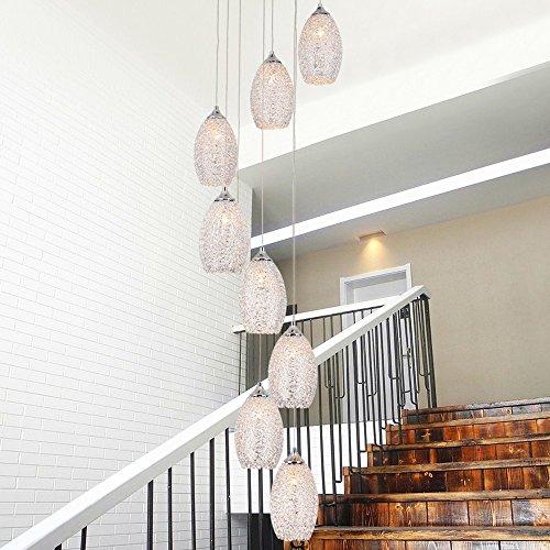 Duplex Kronleuchter Multi beleuchtet modernen minimalistischen nordischen Stil Restaurant Pendelleuchte Chrom Farbe Kunst kreative Persönlichkeit Villa Luxation Treppe langen Kronleuchter