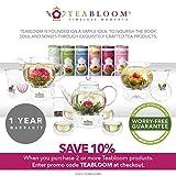 Teabloom Herzförmiger Blütentee – Geschenk-Set mit 12 zusammengestellten Blühenden Teeblumen - Grüner Tee + Jasmin, Granatapfel, Erdbeere, Rose, Litchi & Pfirsich - 7