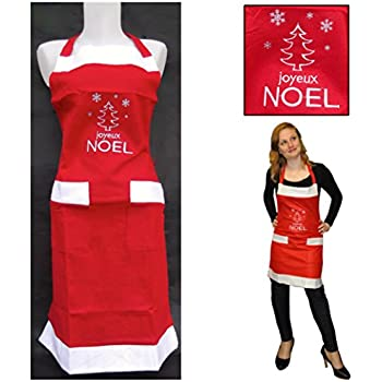 Joyeux Noel Mere Noel.Tablier De Noel Rouge Avec Inscription Joyeux Noel Tablier