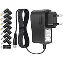 Outtag Cargador Universal 5V 2.5A Cable de alimentación 2500ma AC Adaptador de viaje pared 8 conectors Micro usb para Tablet Android Smart phone MP3 DVD USB HUB Router y otros Dispositivos doméstico