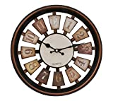 #6: Tied Ribbons Wall Clock for Home Living Room Office Bedroom Drawing room (12 Inch X 12 Inch, Wood and Copper,Plastic)