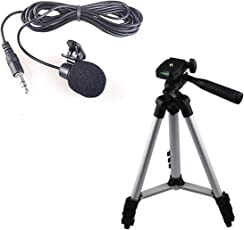 Rextan Tripod 3110 Portable & Foldable Mobile Camera Tripod with Mobile Clip Holder Compatible with All Smartphones (3110 with Lapel)