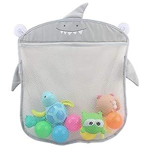 Baby Bath Toy Organiser Storage Bag - Bathroom Tidy Organiser Hanging Mesh Net with 2 Strong Suction Cups for Body Shower Brush, Shampoo, Kids Bathtub Toys