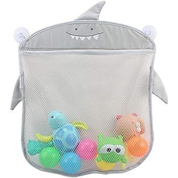 Baby UK Baby Bath Toy Tidy Storage Net Suction Cup Bag Mesh Shower Bathroom Organiser Bath Toys