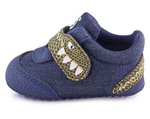 Cartoonimals Babyschuhe Mädchen Jungen Neugeborene Weiche Rutschsicheren Baby Kinder Schuhe Dinooo Denim 20