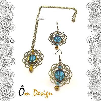 Parure Hindi noir -perles indiennes-