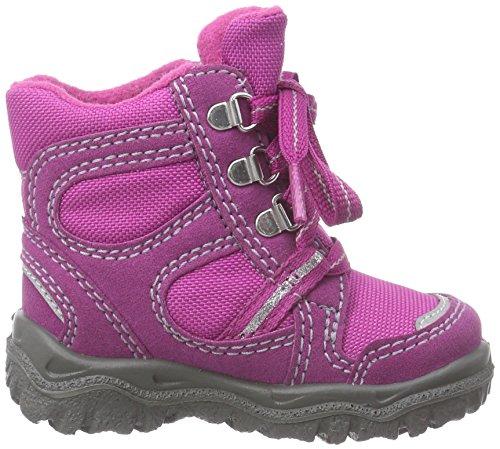Superfit  HUSKY1, Bottes de neige de hauteur moyenne, doublure chaude filles Rose - Pink (DAHLIA 73)