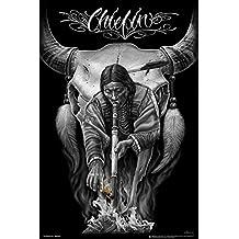 David Gonzales Art - Chiefin Poster Drucken (60,96 x 91,44 cm)