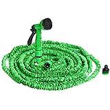 Monzana flexiSchlauch - flexibler Gartenschlauch 30m ausgedehnt Wasserschlauch flexibel Gartenteichschlauch dehnbar