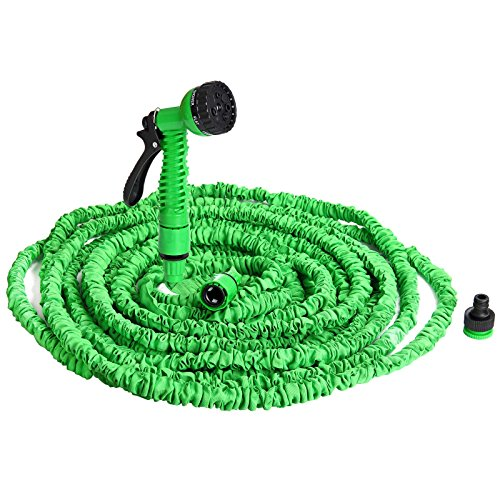 Deuba Monzana flexiSchlauch - Flexibler Gartenschlauch 30m ausgedehnt Wasserschlauch Flexibel Gartenteichschlauch Dehnbar