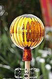 ÖLBAUM ca. 25 cm XXL Gartenkugel in (mit Glasschaft) Kugelform Gold gartenkugeln, Sonnenfänger-Kugel, Sonnenfänger-Scheibe, Sonnenfängerscheiben, Gartendeko FROSTSICHER, lichtbeständig und