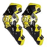 peiji Professionelle Motorrad Knie Beine schutzausrüstungen Schutzeinrichtungen Pads Extreme Sports Shock Puffer biegbare Racing Knie Support, gelb