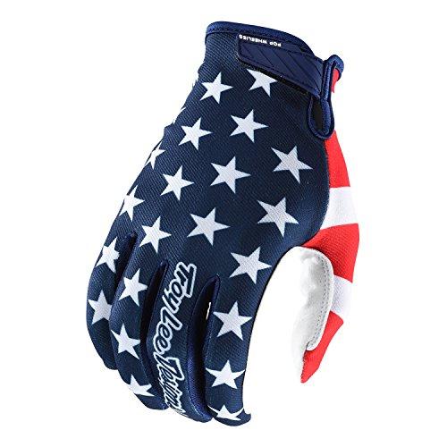 troy lee designs guanti Troy Lee Designs Guanti Mtb 2019 Air Americana Blu Scuro-Rosso (L