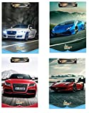 #3: Srushti Manufacturing Product Pvt. Ltd. Exam Pad Designs of Cars and Bikes in Multicolored Pack of 4 Pices