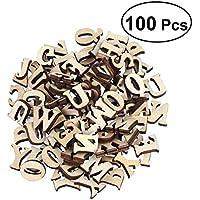 100 letras del alfabeto, de Outflower, de madera, en mayúscula, de la