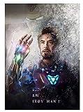KWELJW The Avengers Endgame Movie Iron Man Captain America Paper Poster Home Decor Painting Wall Art For Bar Cafe Living Room Bedroom B