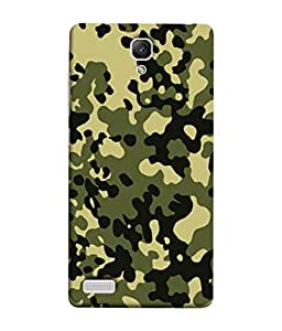 Xiaomi Redmi Note, Xiaomi Redmi Note 4G, Xiaomi Redmi Note Prime Back Cover (Camoflage Pattern Military Beige Print Seamless Beautiful Series) From Printvisa