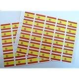 Pack de 60 , 33x20mm , España Self-Stick Pegatinas De La Bandera , autoadhesivo Bandera De España Etiquetas