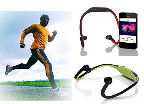 Bluetooth Sports Gym Running Kopfhörer Nackenbügel Kopfhörer mit Mikrofon schwarz (Audio-cd-player Planet)