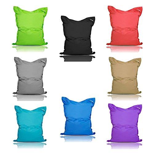 Livodoo® Premium XXL Riesen-Sitzsack Indoor Outdoor mit Innensack 400l Füllung Sitzkissen Bodenkissen Kissen Sessel BeanBag 140x180cm 12 verschiedene Farben