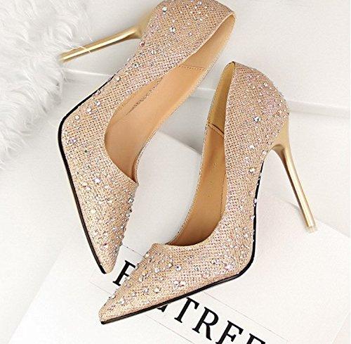 GTVERNH-golden tacchi acqua esercitazione string matrimonio scarpe vestito da sposa luce solo scarpe una damigella bene i tacchi,trentotto Thirty-eight
