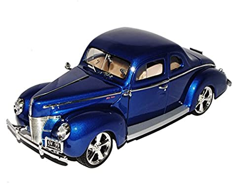 Ford Deluxe Coupe 1940 Blau Custom Version 1/18 Motormax Modell Auto