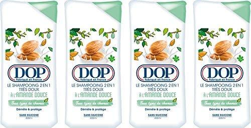 DOP Shampooing Très Doux 2-en-1 à l'Amande Douce 400.0 ml - Lot de 4
