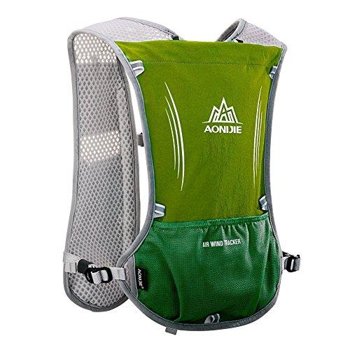 Imagen de aonijie ligero al aire libre agua hidratación  senderismo ciclismo bolsa de deporte con botella soporte para bolsa de agua 1.5l, verde