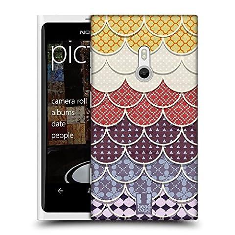 Head Case Designs Gelb Und Violett Scallop Quilts Ruckseite Hülle für Nokia Lumia 800 / Sea Ray
