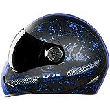 Steelbird Hi-Gn Adonis R2K Full Face Helmet in Matt Finish with Smoke Visor (Black/Blue, Medium 580mm)