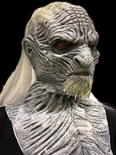 weiß WALKER Maske Deluxe Mit kapuze Latex Game of Thrones Kostüm Masken