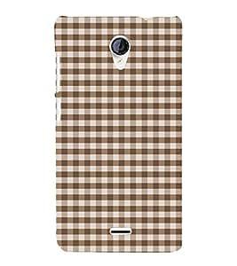 Fiobs Designer Back Case Cover for Micromax Unite 2 A106 :: Micromax A106 Unite 2 (Blue Checks Lines White Nila)